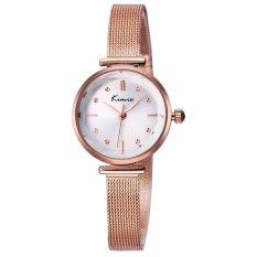 Perfect KIMIO New Fashion Watch Women Dress Watches Rose Gold Full Steel Analog Quartz Ladies Fashion Casual Wrist Watches 2016 (Brown)