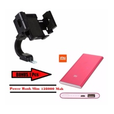 Phone Holder Motor Universal HP Bonus Power Bank Slim 128000Mah