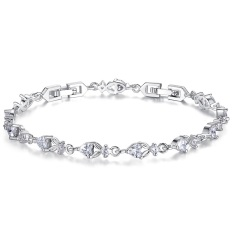 Platinum Plated High-end European And American Fashion Jewelry AAA Diamond Bracelet Diamond Bracelet YIB028