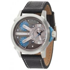 Police Jam Tangan Pria Police PL.14538JS/04A Triple Time Leather Black