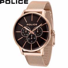 Police - Jam Tangan Pria - Rosegold-Coklat - Stainless Steel - 14999JSR/02MM