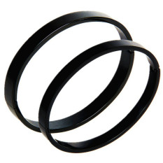 Polished Stainless Steel Bangle Cuff Bracelet Unisex Mens Womens Color Black (Women) - Intl