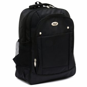 Polo Black Water Laptop Raincover Backpack / Tas Ransel Laptop Pria