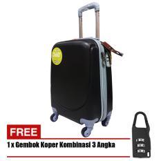 Polo Hoby Koper Hardcase Luggage 24 Inchi 705-24 Anti Theft - Black + Free Padlock Suitcase