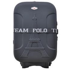 Polo Team Tas Koper Expander 2 Roda size 20 inch Gratis Pengiriman JABODETABEK - 936 - Hitam
