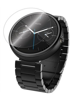 PopSky Tempered Glass Premium 9H Film Screen Protector for Moto 360 2nd Gen 46MM (Clear