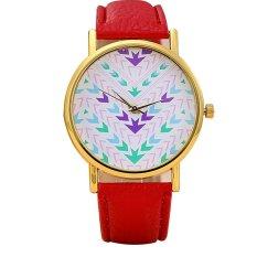 Popular Aztec Pattern Dial Lady Watch PU Leather Women Quartz Wrist Watches Female Wristwatch (Intl)