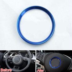 Possbay Blue 3D Steering Wheel Circle Ring Decorative Sticker For Mercedes Benz C-Class - Intl