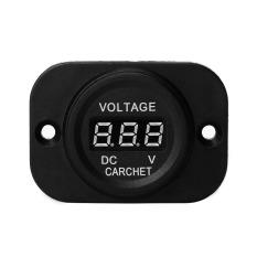 Power Monitor Digital Red LED Voltmeter Volt Meter Gauge For Car Motorcycle