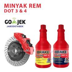 Primo Brake Fluid DOT 3 Minyak Rem Terbaik Merah - 300 mL