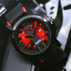 Puma - Jam Tangan Digital - Rubber Strap - PM5454ED Hitam (Red)