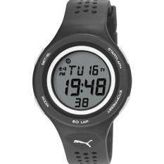 Puma Watch Black Plastic Case Resin Strap Mens NWT + Warranty PU911081001