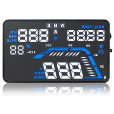 Q7 Car Vehicle-mounted 5.5 Inch Universal GPS HUD Head Up Display Speed Warning Speedometers Compatible With All Cars