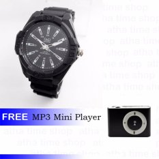 Q&Q 0607 Jam Tangan Pria Free Mp3 Mini Player
