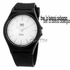 Q&Q Watch - Jam Tangan Pria - Hitam - Rubber Strap - VQ66J002Y