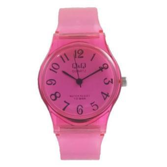 Q&Q Jam Tangan Wanita-Rubber Strap-QQ6671 (Pink)