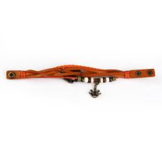 Quartz Fashion Weave Wrap Around Leather Bracelet Wrist Watch Orange