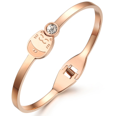 Queen Lucky Chinchilla Classic Fashion Women's Titanium Steel Bracelet (Rose Gold)