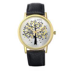 Queen Men Tree Pattern Quartz Wrist Watch (Black)