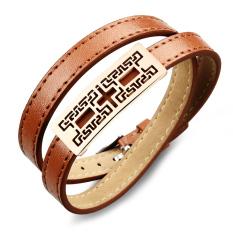 Queen Men's Wild Korean Fashion Retro Leather Sport Bracelet New Special Wholesale (Coffee)