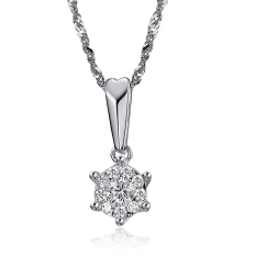 Queen Stars With Me - Ladies Fashion Gilded Diamond Necklace
