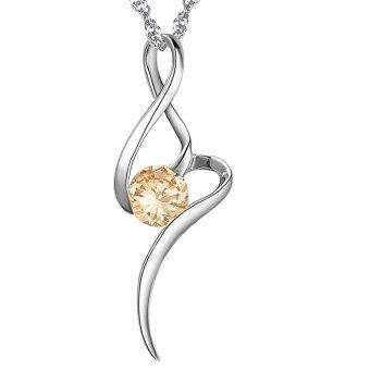 Queen Women's Fashion Diamond Pendant Phoenix Necklace (White)