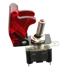 Racing Car 12V Ignition Switch Panel Engine Start Push Button Red LED Toggle (Intl)