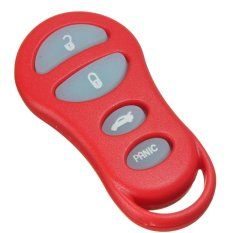 Red 4 Button Car Night Glow Keyless Remote Key Fob Shell Case Pad For Dodge
