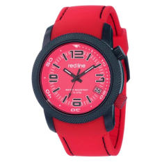 "Red Line Men's RL-50043-BB-05-RD ""Octane"" Black Ion-Plated Stainless Steel And Red Silicone Watch (Intl)"