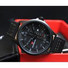 Reddington 3052 - DS Jam Tangan Pria - Strap Leather Hitam - Plat Hitam