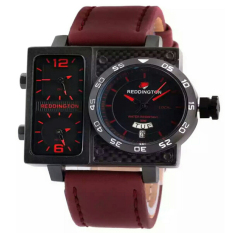 Reddington Tripletime - Jam Tangan Pria - Merah Maroon - Leather Strap - RD333Mm