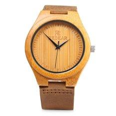 REDEAR SJ 1448 - 1 Quartz Men Watch Wooden Lightweight Leather Band Wristwatch (BROWN) - Intl