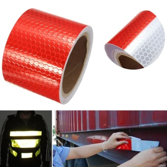 Reflective Warning Conspicuity Roll Adhesive Tape Film Car Vinyl Sticker 3M - intl