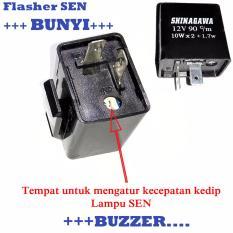 Relay Flasher Sen/ Sein Bisa untuk Sen Lampu LED + Buzzer Bunyi Saat Sen Menyala