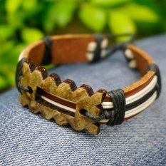 Religious Bracelets Men Jewelry Charm Genuine Leather Bracelets For Women Gifts Men Bracelet 2016 - Intl