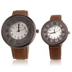Retro Style Classic Quartz Wrist Watch / Couple Watch + Synthetic Leather Strap Watch