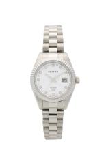 Rhythm RQ1610.01 - Jam Tangan Wanita - Stainless - Silver White