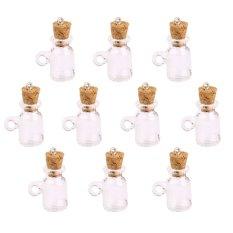 RIS 10pcs Glass Cork Bottle Jars Vials Wishing Bottles DIY Pendant - Cup Shape