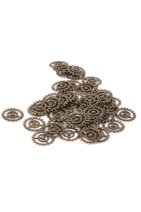 RIS Carved Gear Wheel Pendant Charms Set Of 50 (Bronze) (Intl)