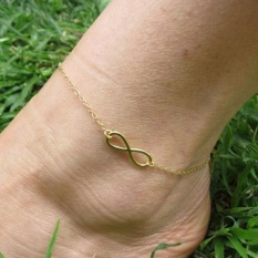 Romantic Simple Gold Alloy 8 Foot Ankle Chain Anklet Bracelet Girl Charm Jewelry Gift - intl