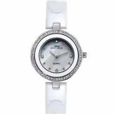 rooroom IBSO The Small Dial Ceramic Watches Diamond Watch FashionJoker Ladies For Lady Lover Watches High-Grade Watch (White) - intl
