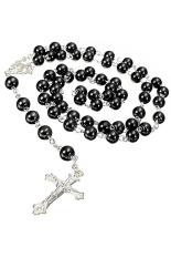 Rosary Pearl Beads Necklace