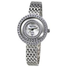 Royal Crown 3628S - Jam Tangan Wanita - Stainless - Rhodium Silver