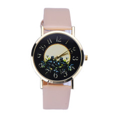 Rural Style Women Fashion Collocation Leather Watch Beige (Intl)