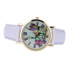Rural Style Women Fashion Collocation Leather Watch White (Intl)