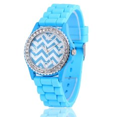 S & F Fashion Casual Wave Pattern Diamond Ladies Watches (Intl)