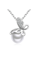 S & F Fashion Pearl Necklace In Sterling Silver 925 Sterling Silver Women Money Accessories