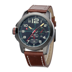 CURREN Brand Leather Strap Quartz Watch Sport Casual Men's Business Watches Male Military Wristwatch (Intl)