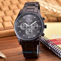 "Saint Costie Original Brand - Jam Tangan Pria - Body Black A€""Black Dial-Alexandre Costie - SC-RT-9502A-G-BB-Alloy Stell Band"