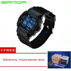 SANDA 2016 Brand Fashion Watch Men G Style Waterproof Sports Military Watches Shock Men's Luxury Analog Quartz Digital Watches293 (Blue) - Intl [Buy 1 Get 1 Freebie]